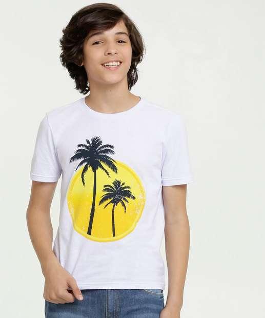 Image_Camiseta Juvenil Estampa Coqueiros Manga Curta MR
