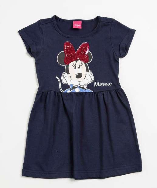 Image_Vestido Infantil Estampa Minnie Paetê Disney