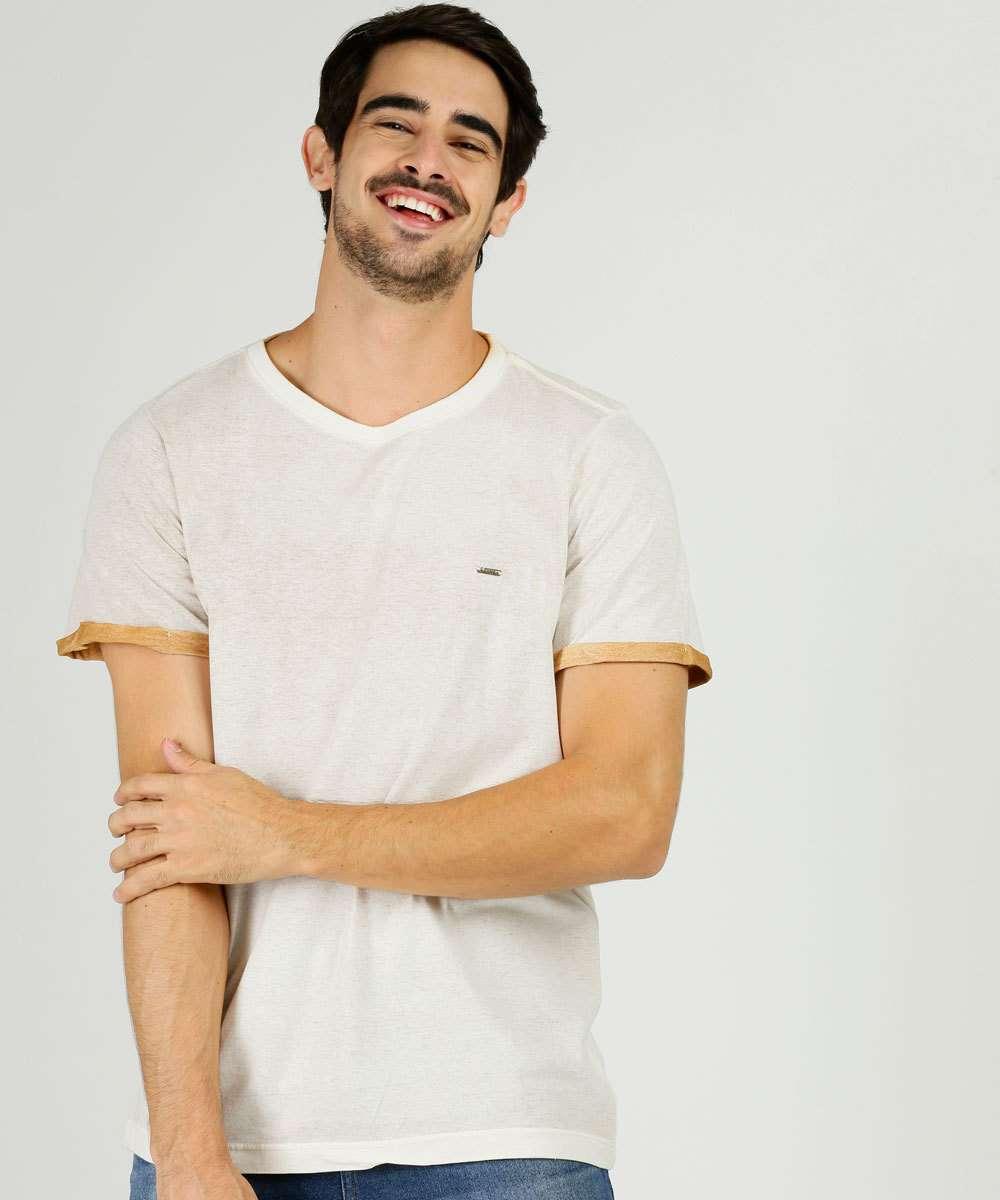 Camiseta Masculina Recorte Manga Curta Zune Jeans