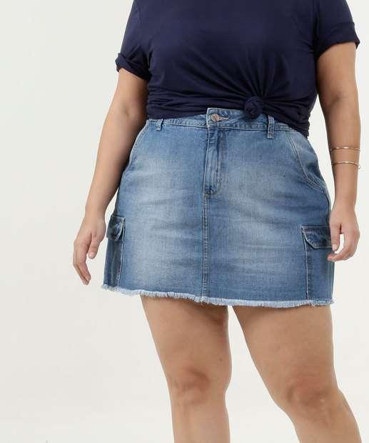Image_Saia Feminina Jeans Bolsos Plus Size Razon