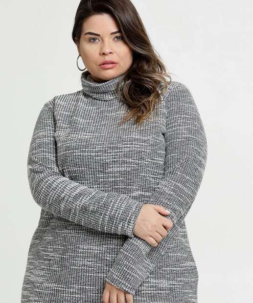 Image_Suéter Feminino Tricô Gola Alta Plus Size