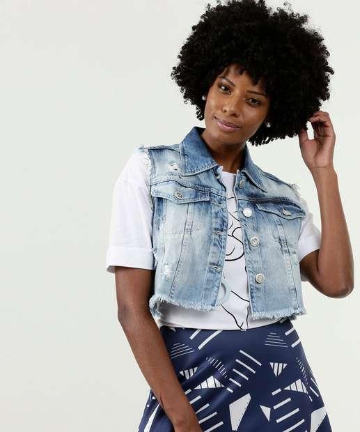 Image_Colete Feminino Barra Desfiada Uber Jeans