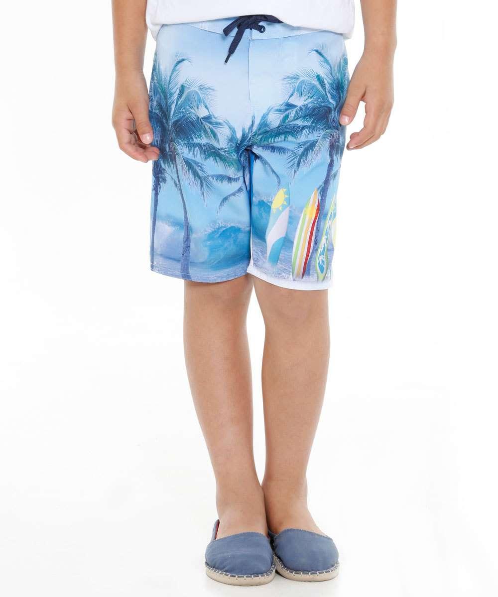 Bermuda Infantil Estampa Prancha Surf Marisa