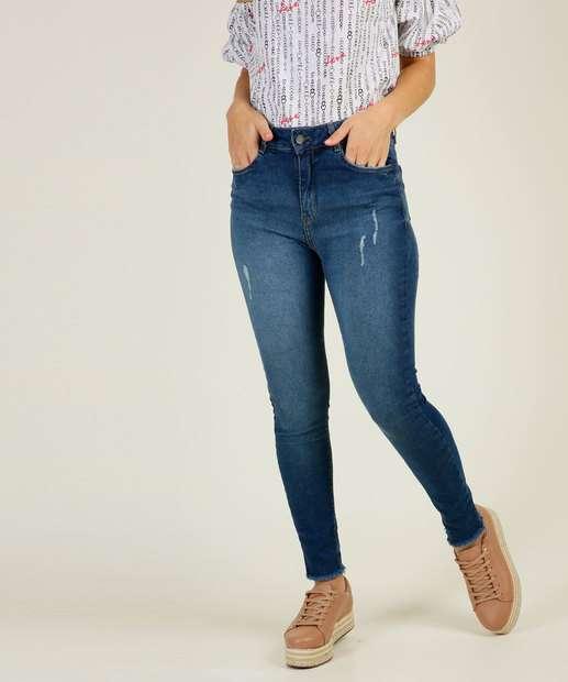 Image_Calça Jeans Puídos Skinny Feminina Marisa