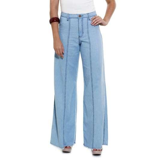 Image_Calça Feminina Modelo Pantalona em jeans