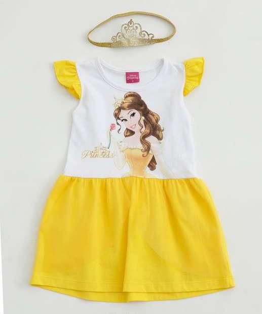 Image_Vestido Infantil Bella Tiara Tule Disney