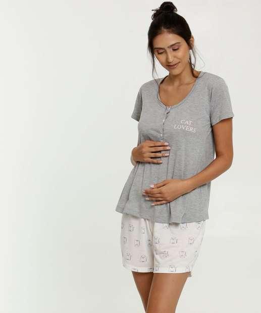 Image_Pijama Feminino Maternidade Estampa Gatos Marisa