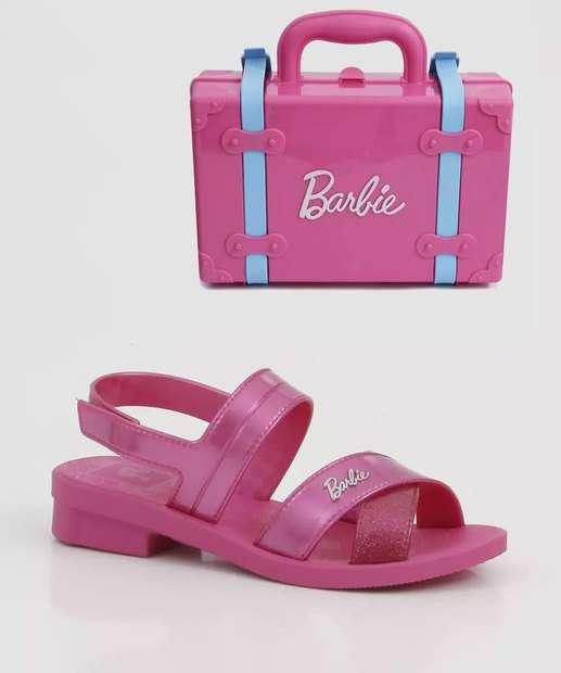 Image_Sandália Infantil Barbie Volta ao Mundo Brinde Grendene Kids