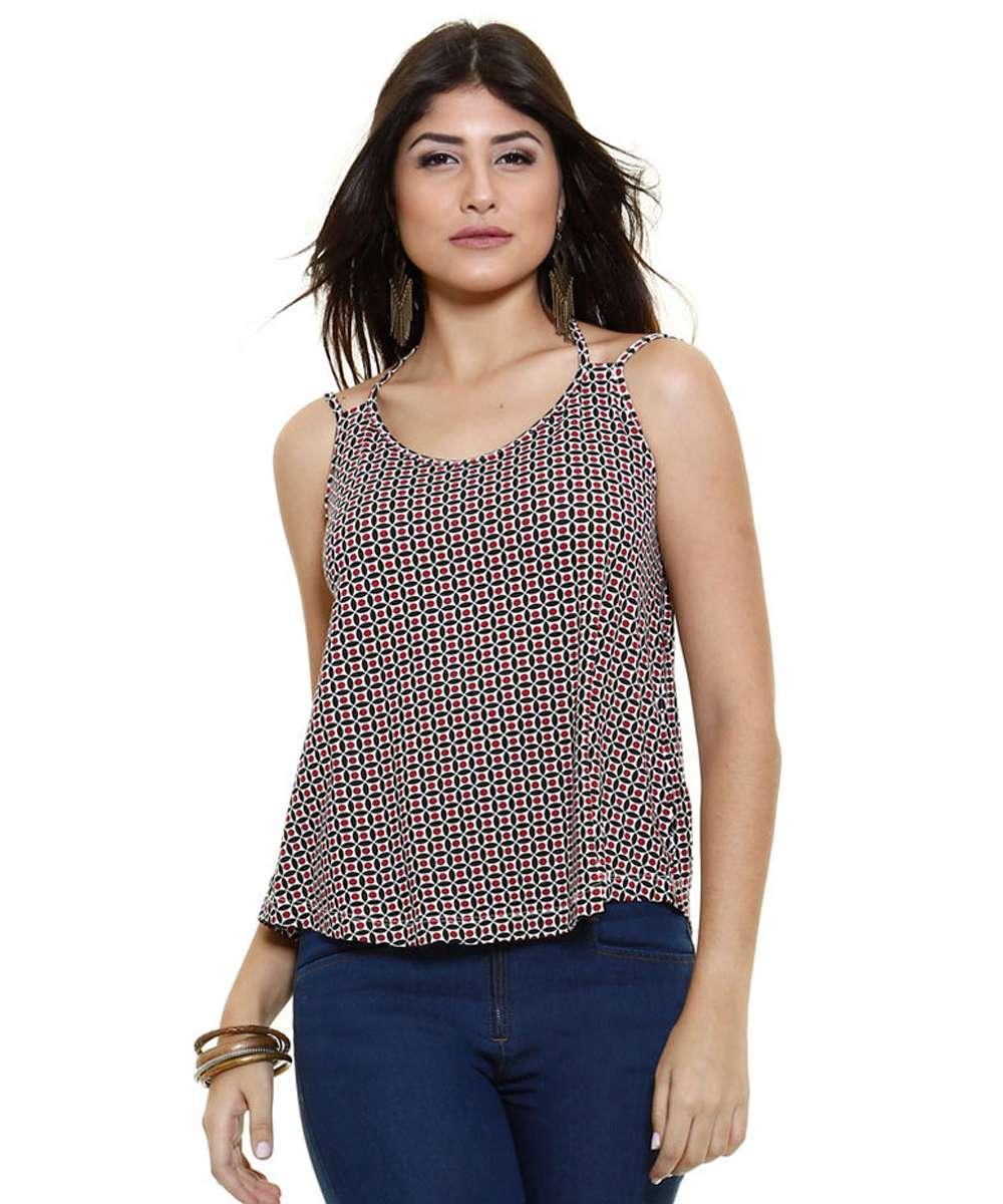 Blusa feminina com tiras nas costas Marisa