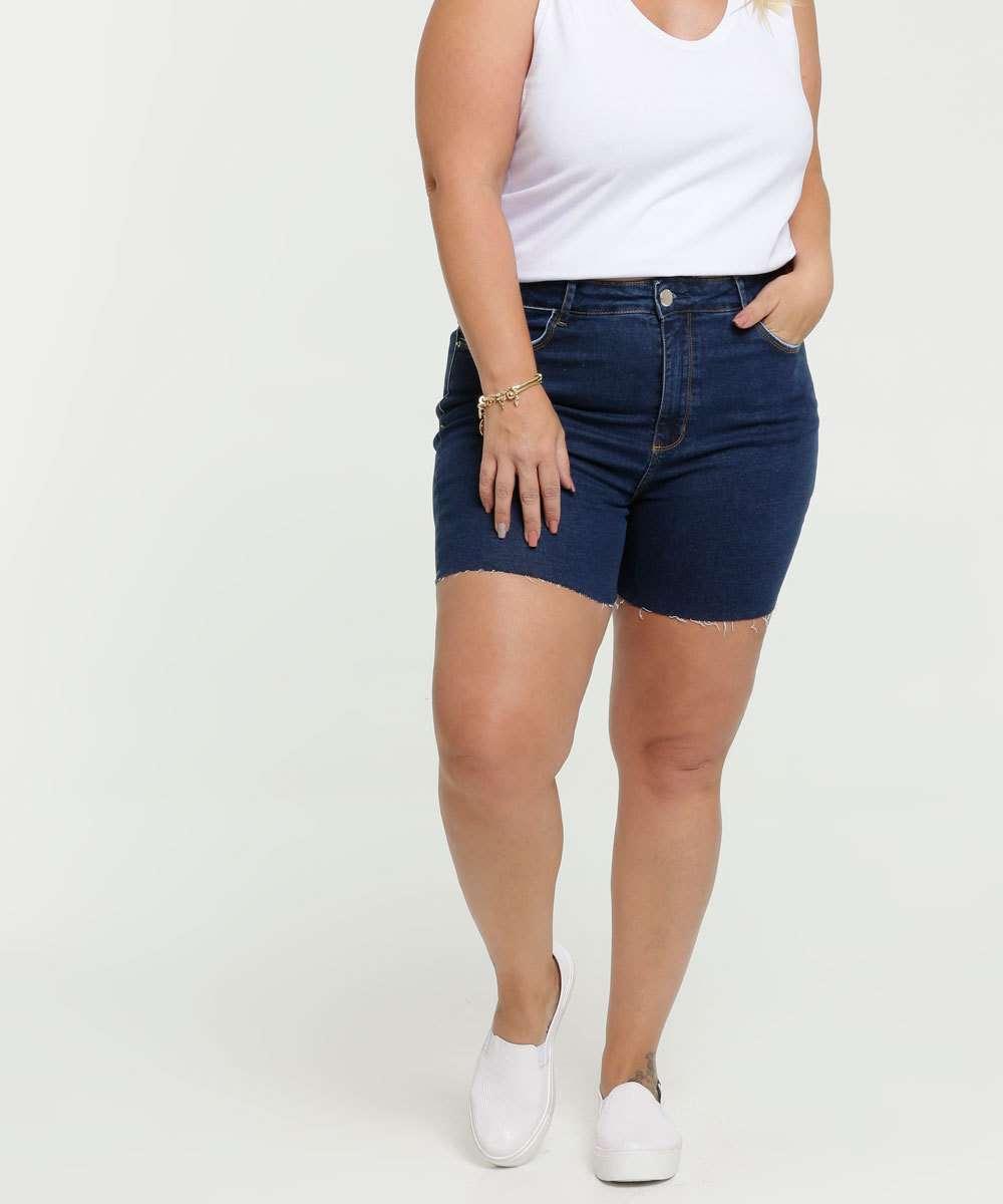 Short Feminino Jeans Plus Size Marisa