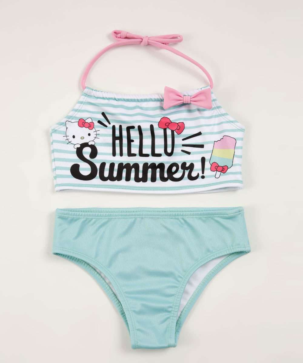 Biquíni Infantil Estampa Hello Kitty Sanrio