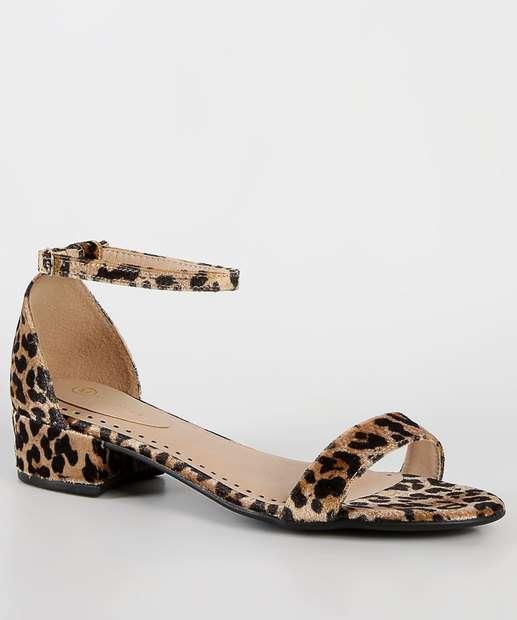Image_Sandália Feminina Estampa Animal Print Milenar Shoes