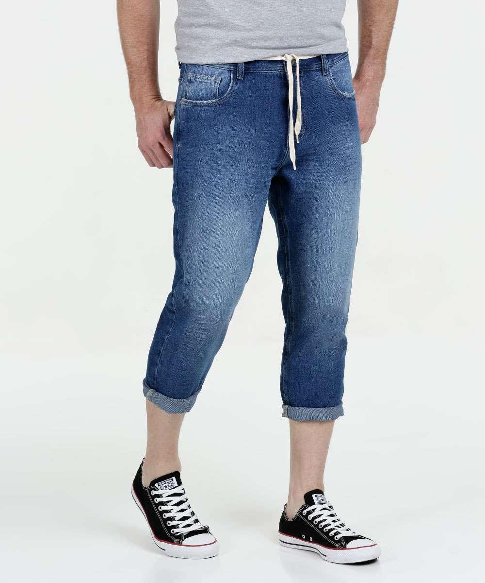 Calça Masculina Jeans Capri Marisa