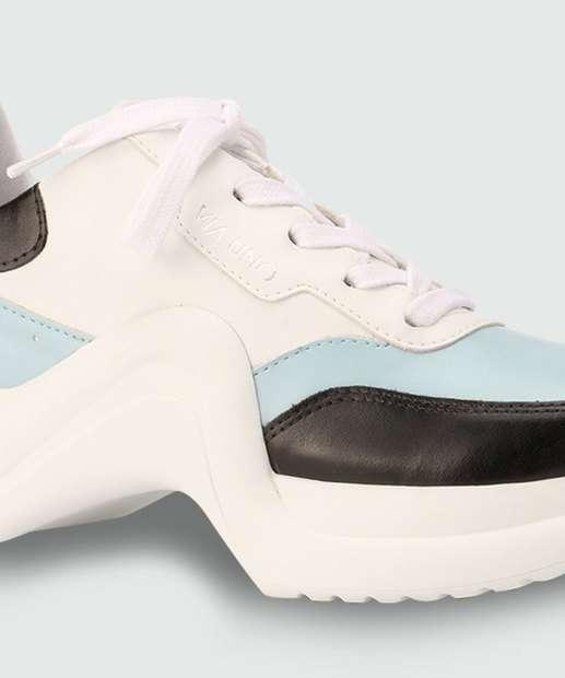 Via 374001SEAVV Feminino Sneaker BRANCO Chunky E Uno Tênis AZUL vwTtHqq