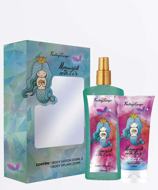 Image_Kit Feminino Body Splash e Loção Corporal Mermaid Water Delikad 200ml