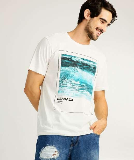 Image_Camiseta Masculina Estampa Mar Manga Curta MR