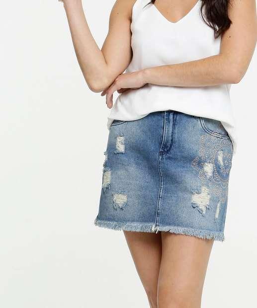 Image_Saia Feminina Jeans Destroyed Tachas Zune Jeans