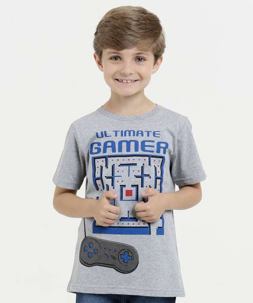 Image_Camiseta Infantil Estampa Video Game Manga Curta Marisa