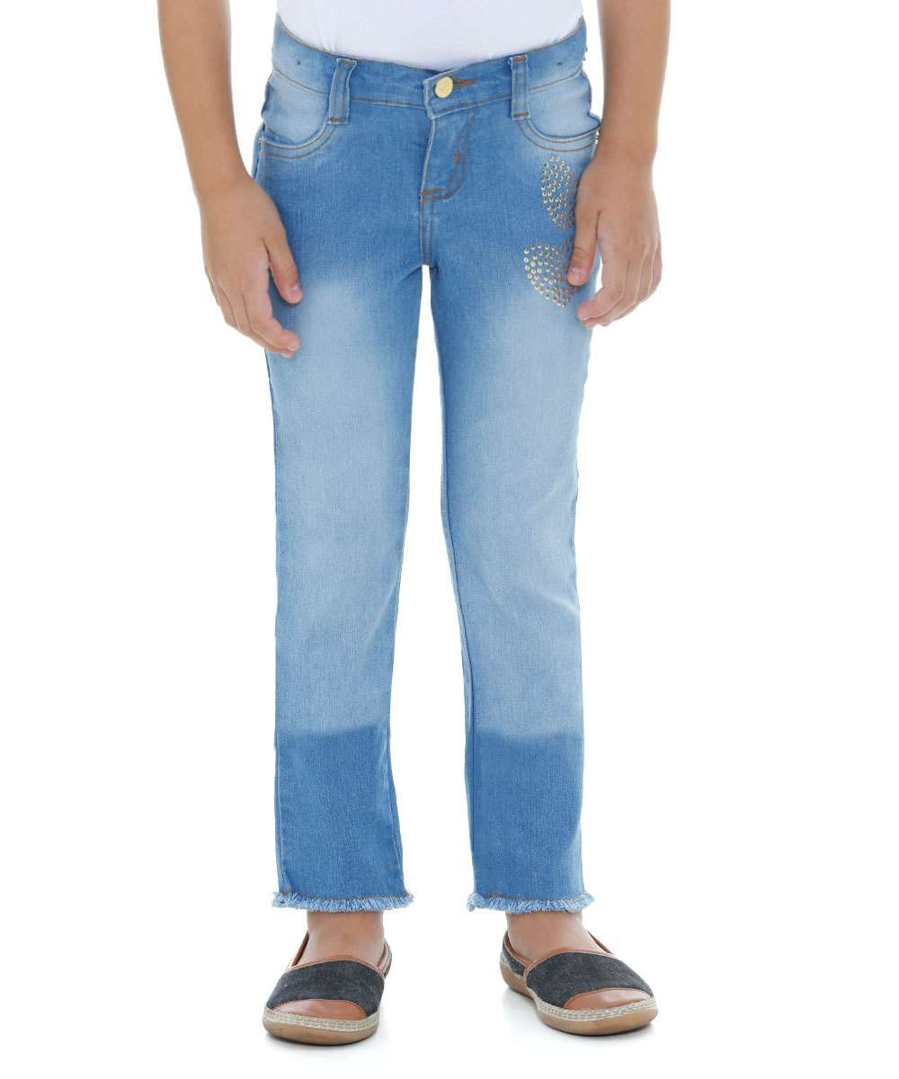 21d93a0aa Calça Infantil Jeans Strass Marisa | Marisa