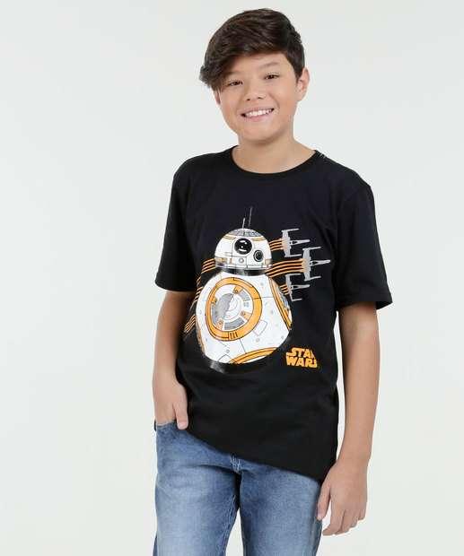 Image_Camiseta Juvenil Estampa Star Wars BB8 Manga Curta Disney