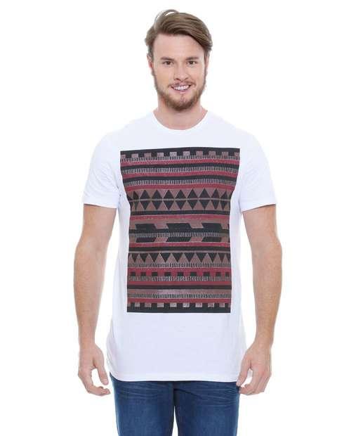 Image_Camiseta Masculina Estampa Étnica Marisa