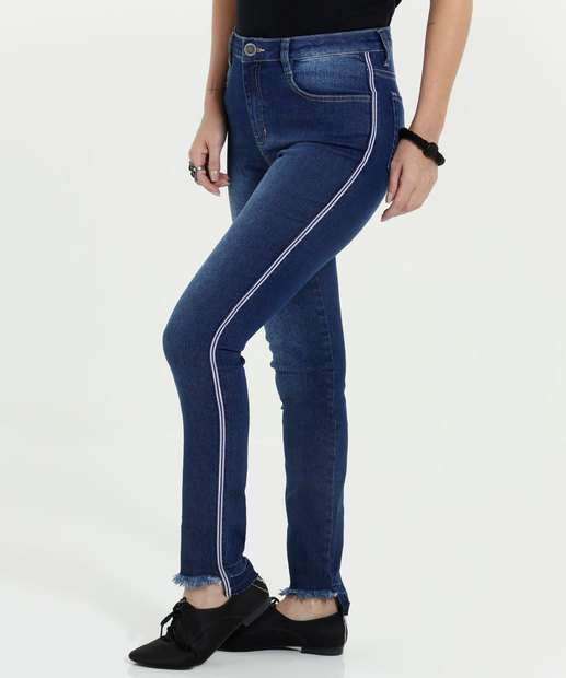 Image_Calça Feminina Skinny Jeans Listras Marisa