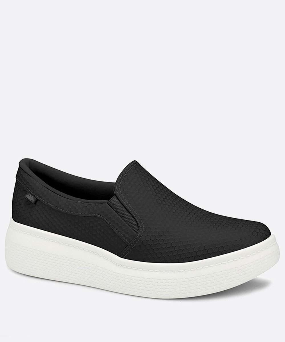 Tênis Feminino Slip On Casual Textura Dakota