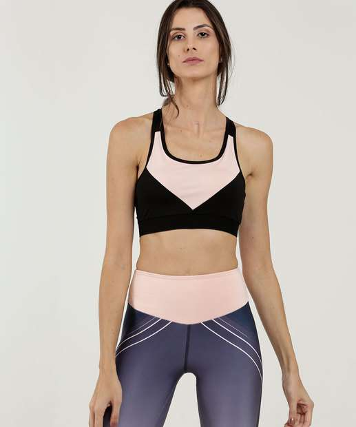 Image_Top Feminino Bicolor Tiras Transpassadas Fitness Marisa