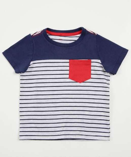 Image_Camiseta Infantil Listrada Manga Curta Marisa