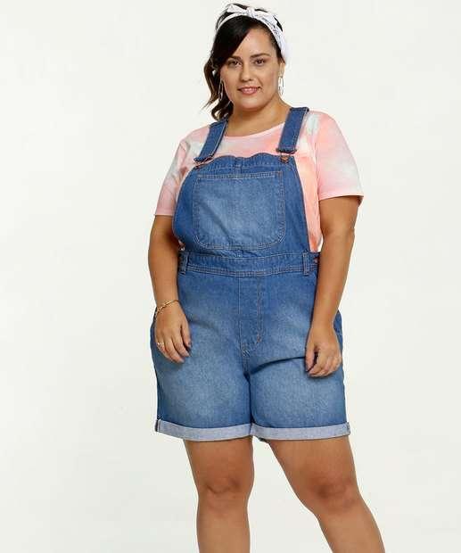 Image_Jardineira Feminina Jeans Bolsos Plus Size Marisa
