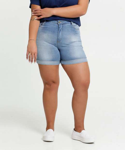 Image_Short Feminino Jeans Barra Dobrada Plus Size Razon
