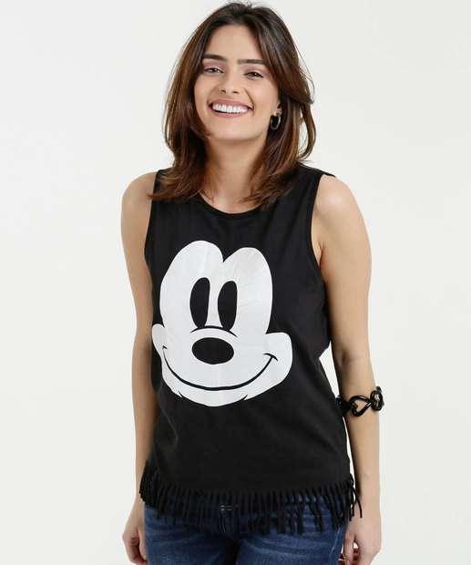 Image_Blusa Feminina Estampa Mickey Sem Manga Disney
