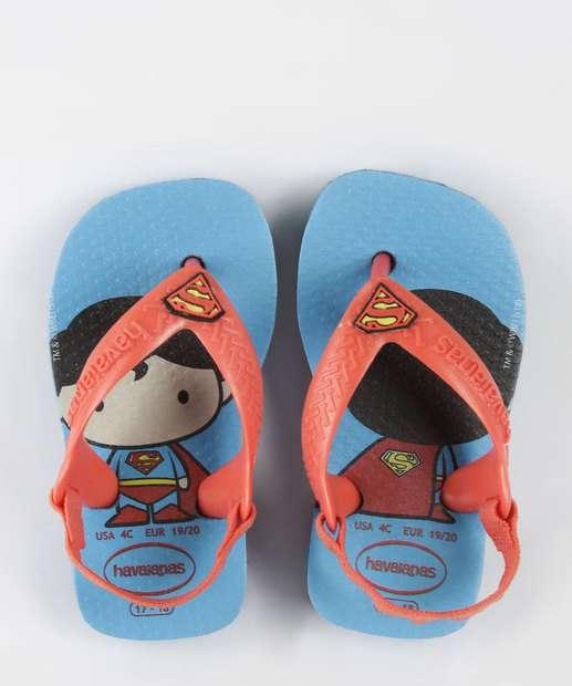 34a3cecef48b8 Sandália Infantil Estampa Super Homem Havaianas