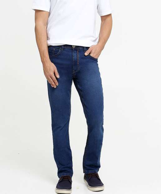 Image_Calça Masculina Jeans Slim Bolsos