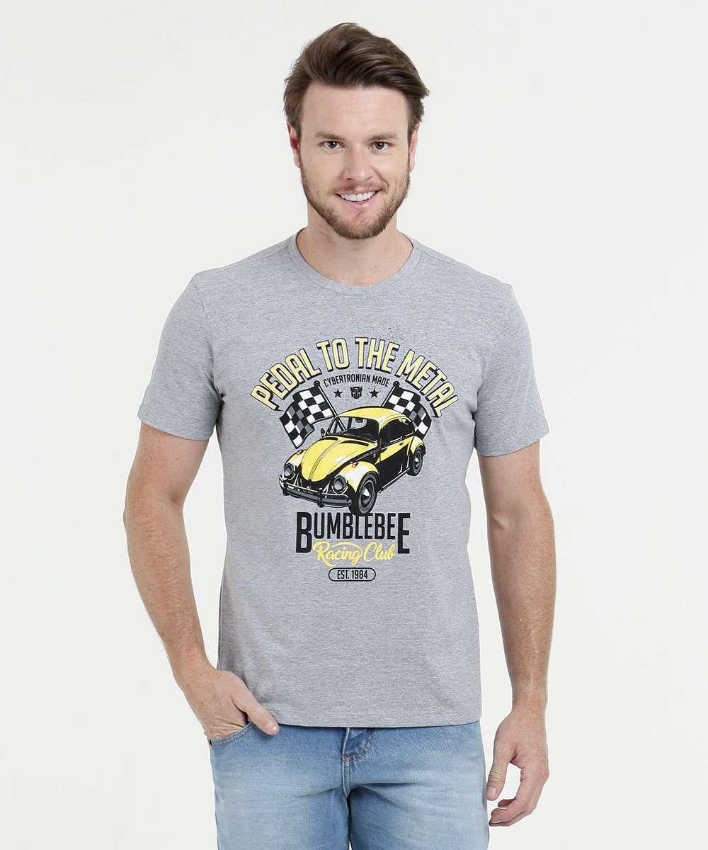 fd8a5a9864 Camiseta Masculina Estampada Manga Curta Hasbro