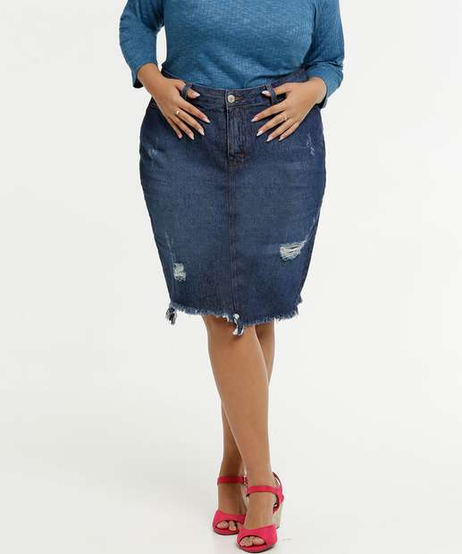 Image_Saia Feminina Jeans Destroyed Plus Size