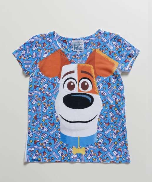 Image_Camiseta Infantil Estampa Pets Manga Curta