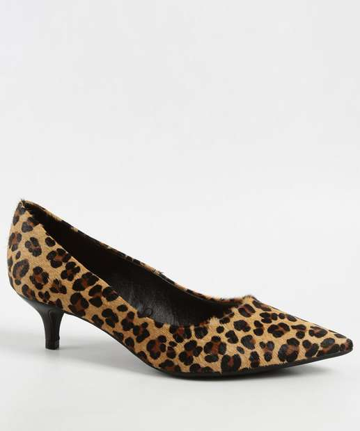f07c78137 Scarpin Feminino Estampa Animal Print Bottero