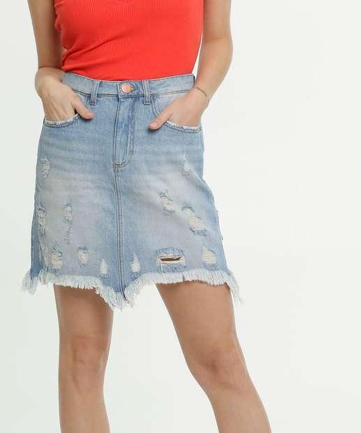 Image_Saia Feminina Jeans Destroyed Marisa