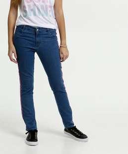 Calça Juvenil Jeans Stretch Faixa Neon Marisa