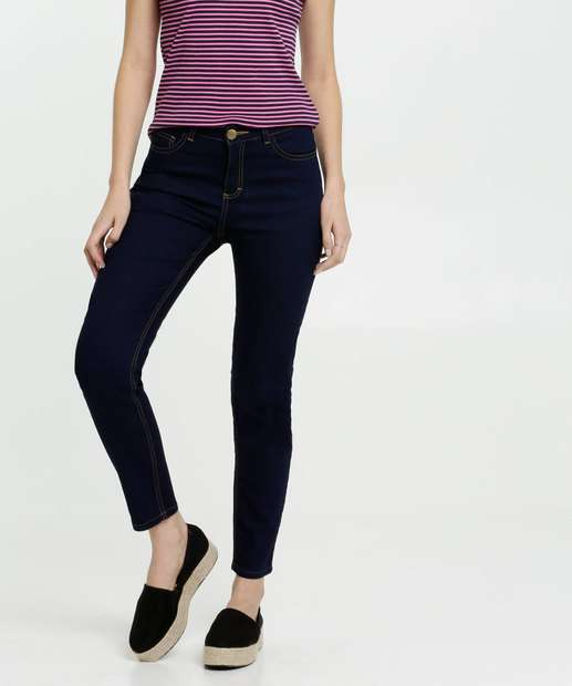 Image_Calça Feminina Jeans Cintura Média Skinny Gups