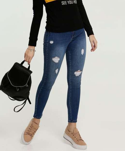 Image_Calça Jeans Destroyed Cigarrete Feminina Sawary