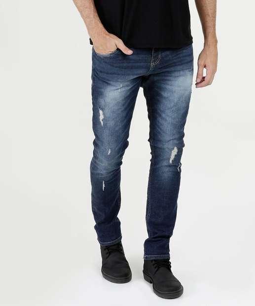 Image_Calça Masculina Jeans Skinny Puídos Biotipo