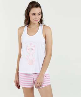 899ffd182a Pijama Feminino Short Doll Estampa Mickey Disney