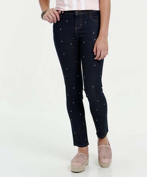 Image_Calça Juvenil Jeans Skinny Strass Marisa