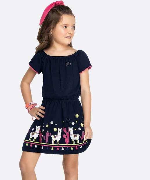 Image_Vestido Infantil Manga Curta Estampado Tam 4 a 10