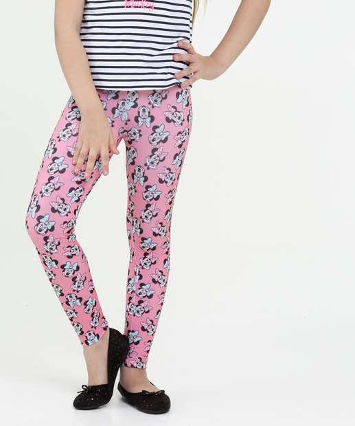 Image_Calça Infantil Legging Estampa Minnie Disney