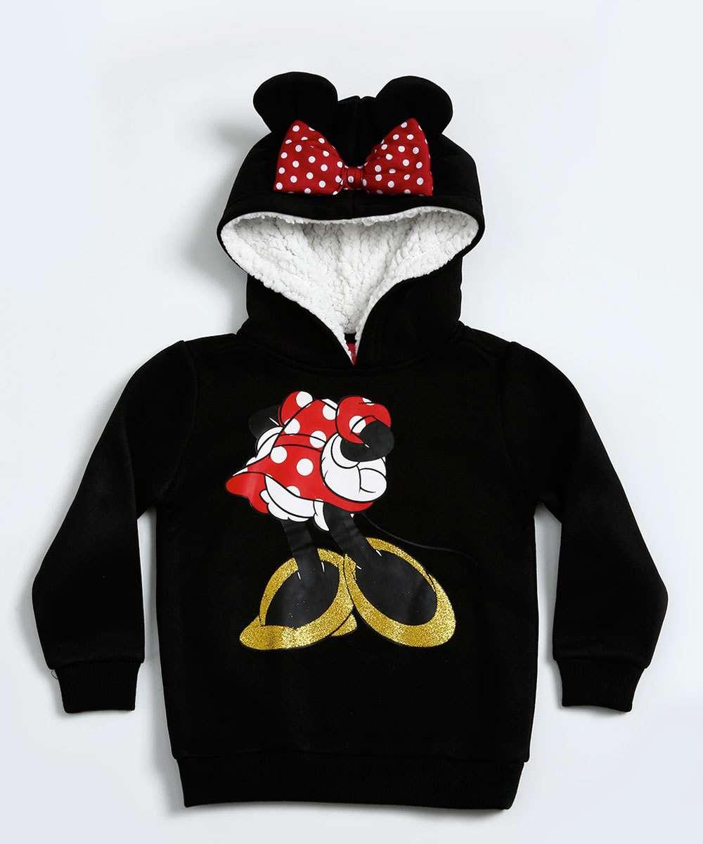 0f04c5eaa5 Blusa Infantil Moletom Estampa Minnie Disney