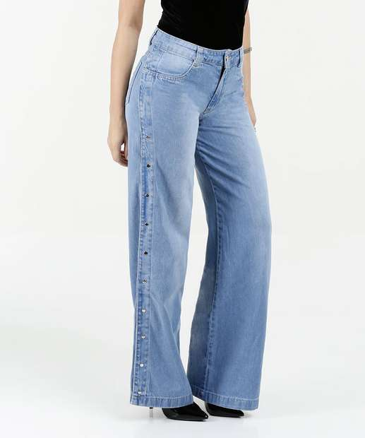 Image_Calça Feminina Jeans Wide Leg Cintura Média Biotipo