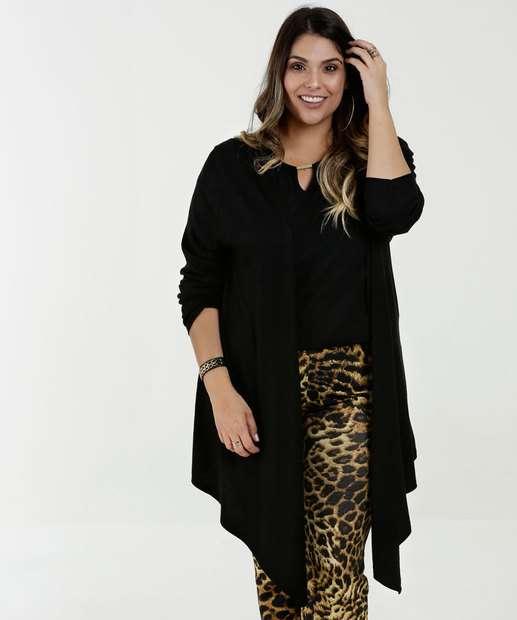 Image_Capa Feminina Alongada Canelado Plus Size Marisa